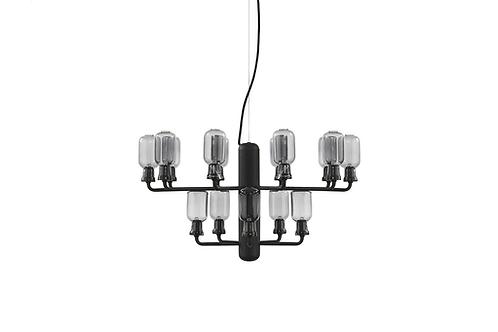 Normann Copenhagen AMP Chandelier small (smoke black) 玻璃吊燈