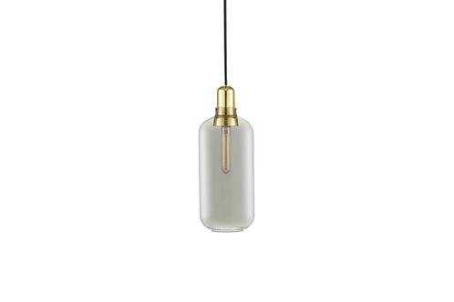 Normann Copenhagen AMP pendant lamp Large (smoke/brass) 玻璃吊燈