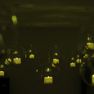 A Ceiling of Floating Candles