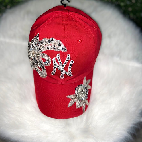 Red Yankee Bling Hat