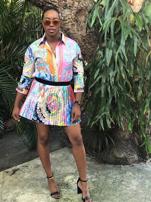 Ms. Jaxson Pleated Skirt Set