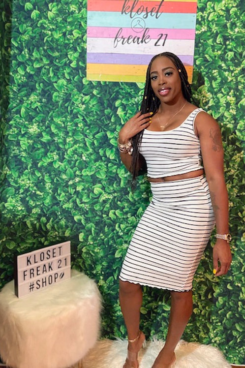 Take Me On A Date Skirt Set