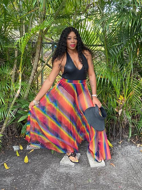 Taste The Rainbow Pleated Skirt