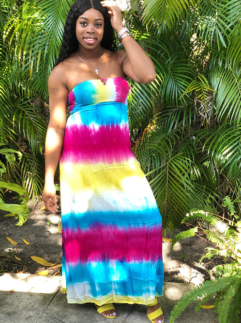Splash Of Colors Maxi Dress