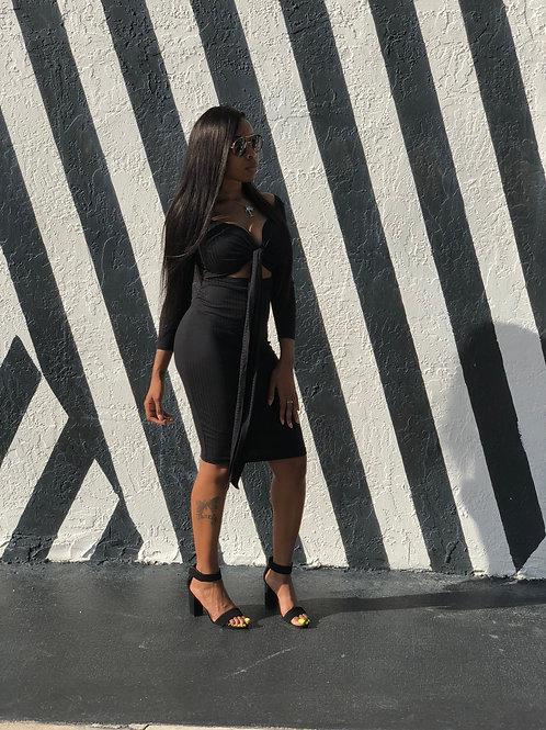 Black Out Mini Dress