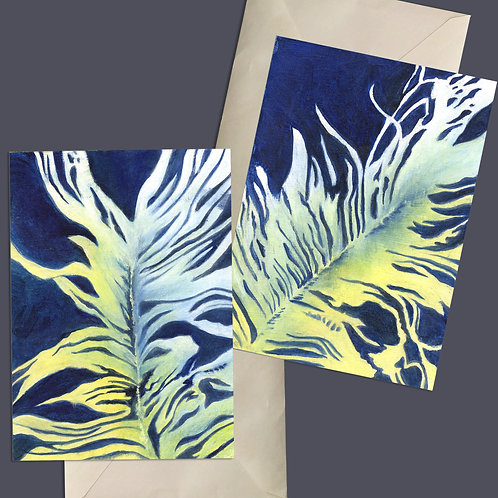 Feather Friends Contemporary Set of Giclee Prints & Blank Note Cards