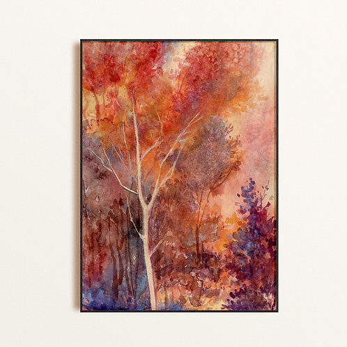Abstract Forest Print by Artist Susan Parkinson, Unique Original Giclee