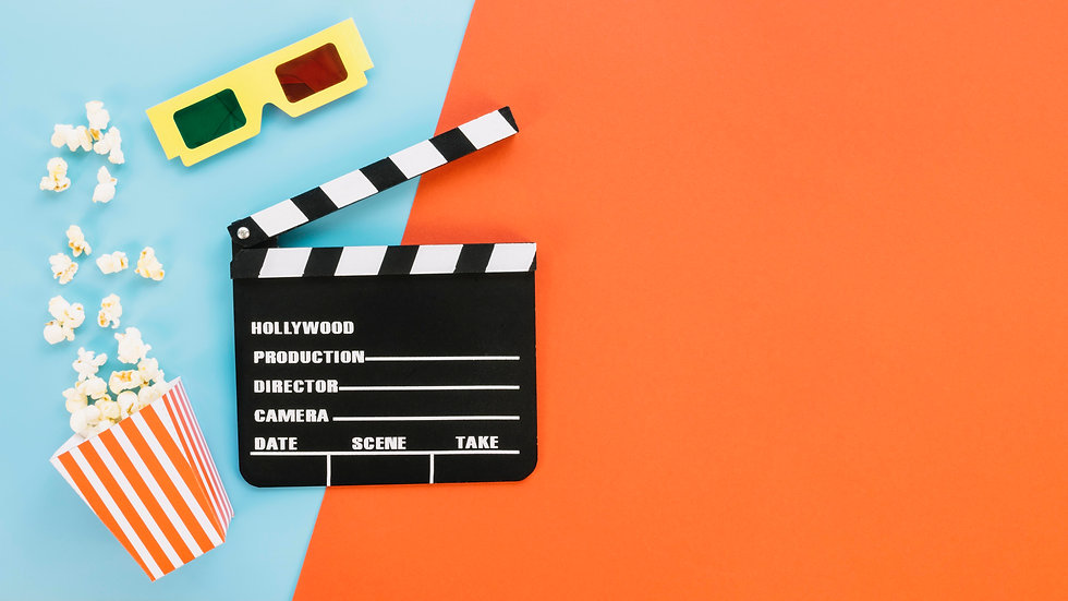 clapperboard-with-3d-glasses-and-popcorn