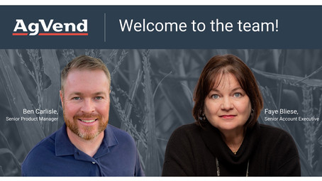 AgVend Welcomes Seasoned Ag Technology Leaders to its Team