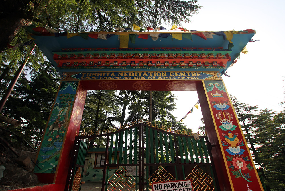 entrance-of-tushita-buddhist-meditation-centre-in-dharamsala-india