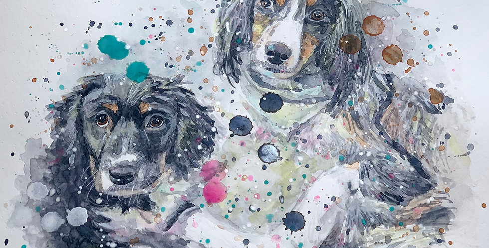 Dogs - Portrait of Rebel and Dawson