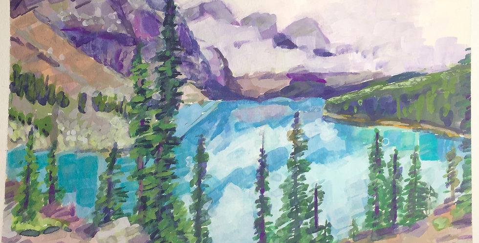 Moraine Lake in Lake Louise AB