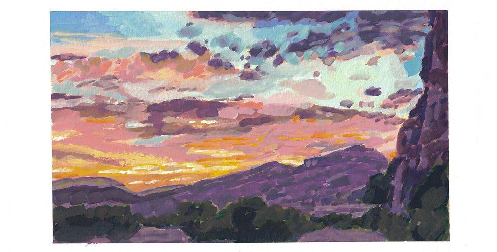 Sunset by Colorado River Utah