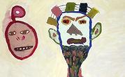 Acuarela máscaras africanas