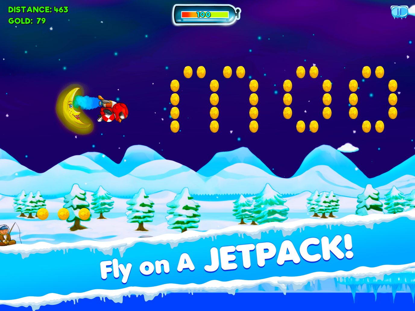 Fly on a a jetpack!