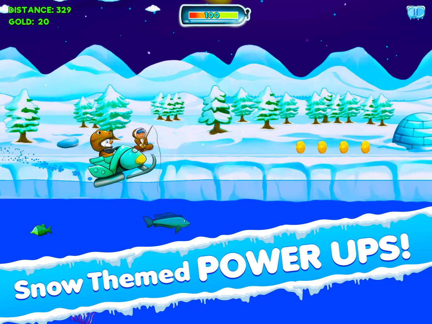Snow themed power ups