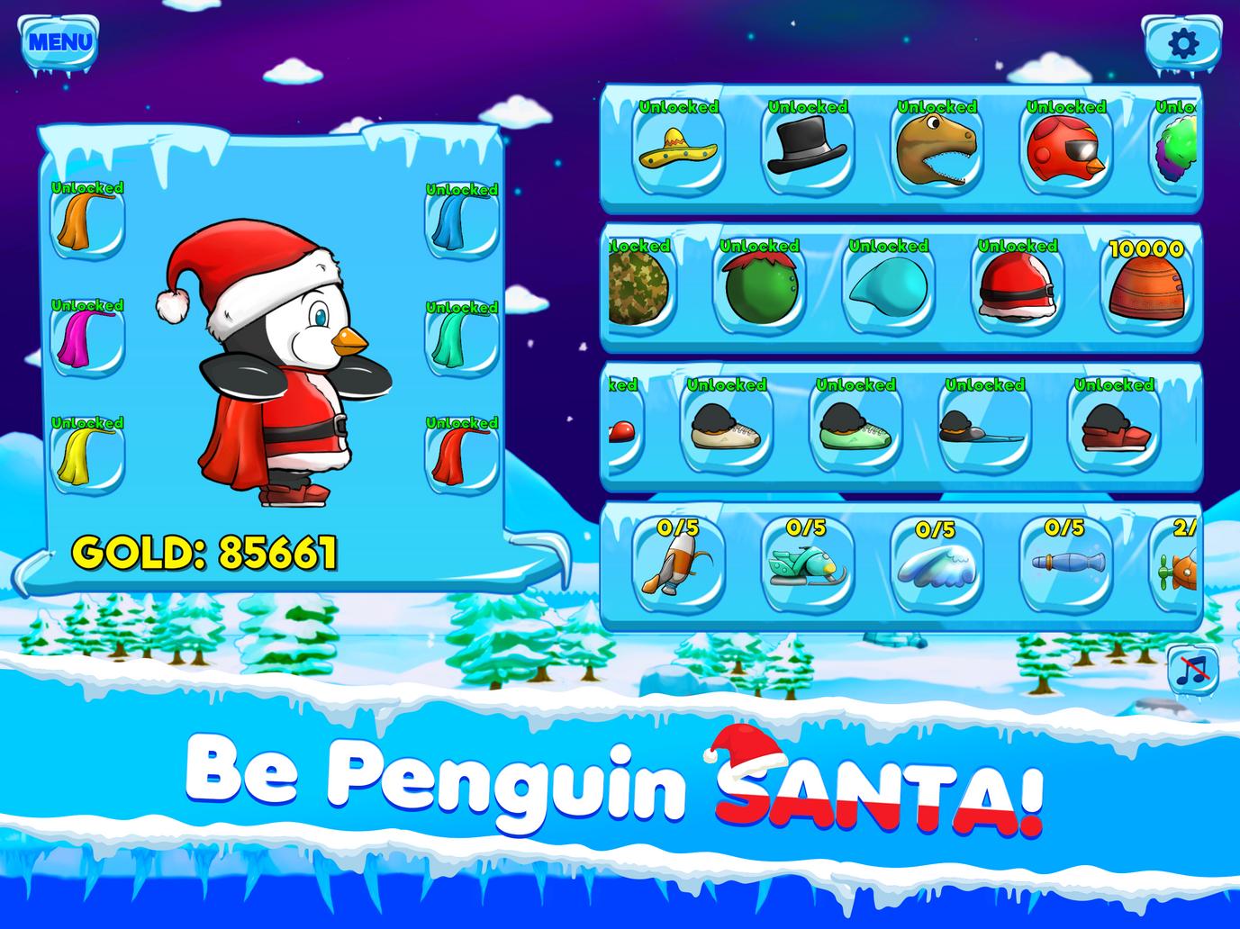 Be Penguin Santa