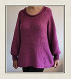 Aubergine all in one sweater