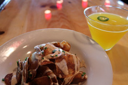 house chips and jalapeno margarita