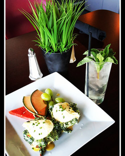 Spinach and Tomato Benedict