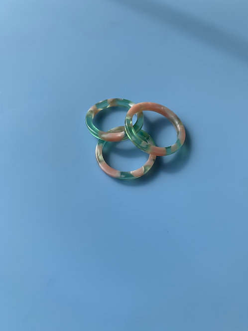 Blue/Pink Acrylic Ring