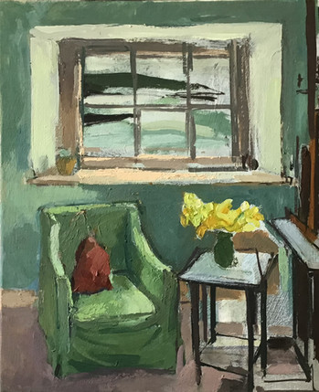 Bovisand Interior with Daffodils
