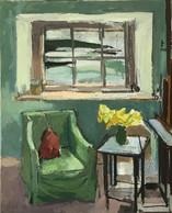 Bovisand Interior with Daffodils