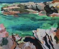 Pink Rocks, Green Sea
