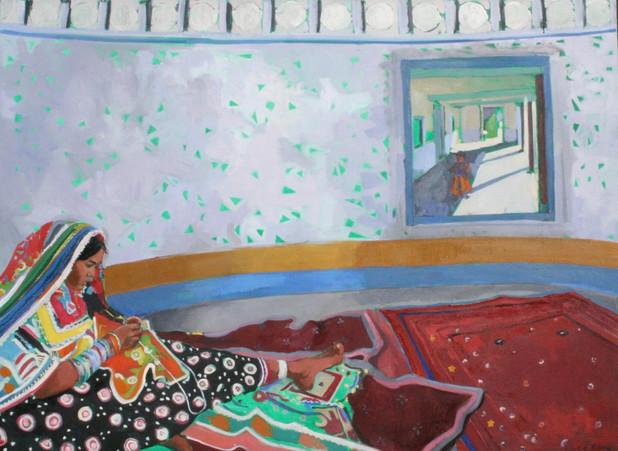 Kuchi Lady Sewing