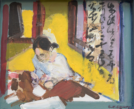 Girl Writing Interior, Japan