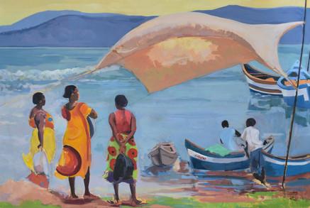Beside Lake Volta