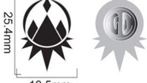 Mountain Emblem Pin (B&W)
