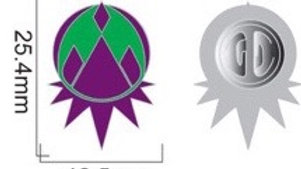 Mountain Emblem Pin (Purp)