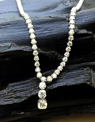 N002486-2 Eternity Uniform Round Diamond Necklace