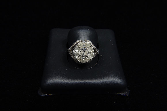 18K gold diamond ring