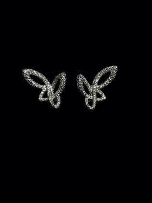 18K gold butterfly earrings