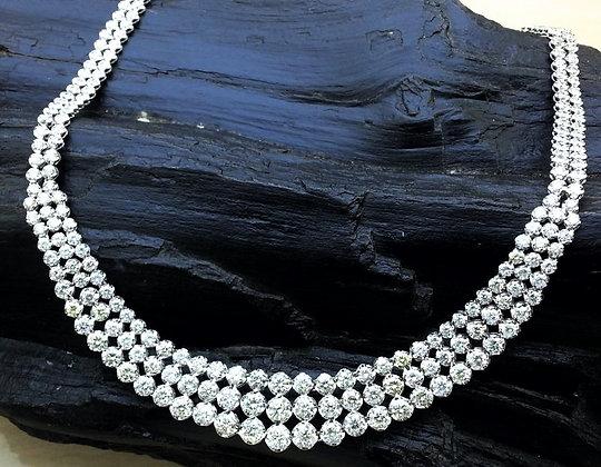 N002502-1 Graduated Round Diamond Necklace