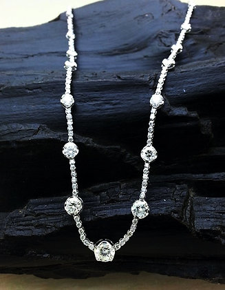 N002503-1 Round Diamond necklace 16inches