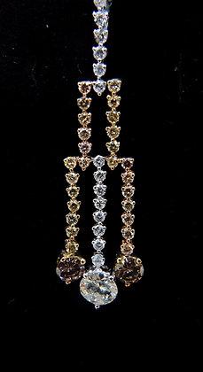18K gold diamond pendant