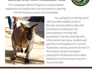 Zookeeper Mentor Program - Bonsall, CA (program no longer offered, contact them for updated flyer)