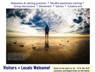 Teen Summer Mindfulness Stress Reduction Program - Los Osos, CA (have another updated vendor post)