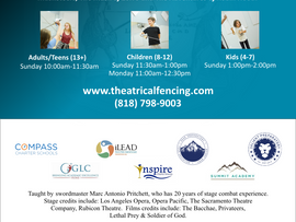 The Art of the Swashbuckler Offers Theatrical Fencing Classes - North Hollywood, CA
