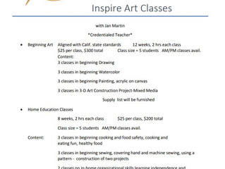 Art Classes - San Jacinto, CA (no website, contact to verify information)