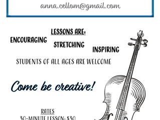 Private Cello Lessons - Bakersfield, CA