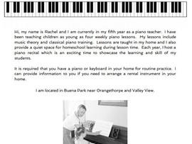 Piano Lessons - Buena Park, CA