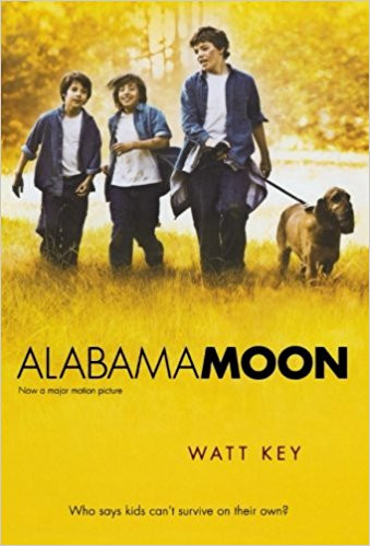 """Book cover for """"Alabama Moon"""""""