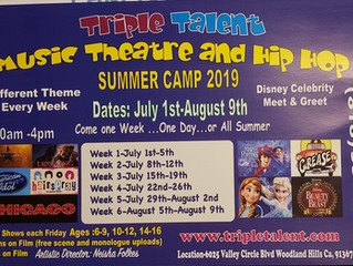 Music Theatre and Hip Hop Summer Camp - Woodland Hills, CA (dated flyer, contact for updated info)