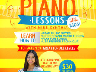 Piano Lessons with Miss Cynthia - Chino, CA (no website, contact for updated info, moved to CLOSED)