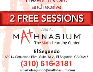 Mathnasium (outdated flyer, contact for more updated information) - El Segundo, CA