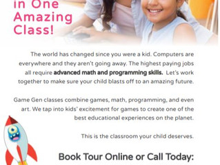 Game Gen Math, Coding & Creative Arts Classes -  Various Locations, CA & Online